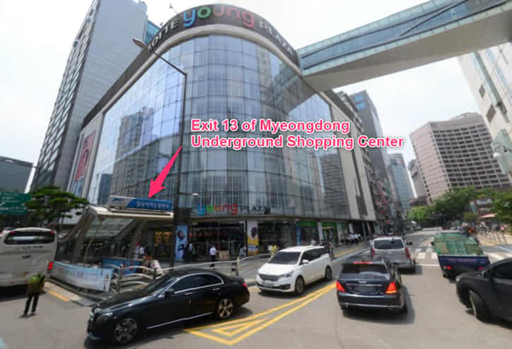 Myeongdong Underground Shopping Center Exit 13