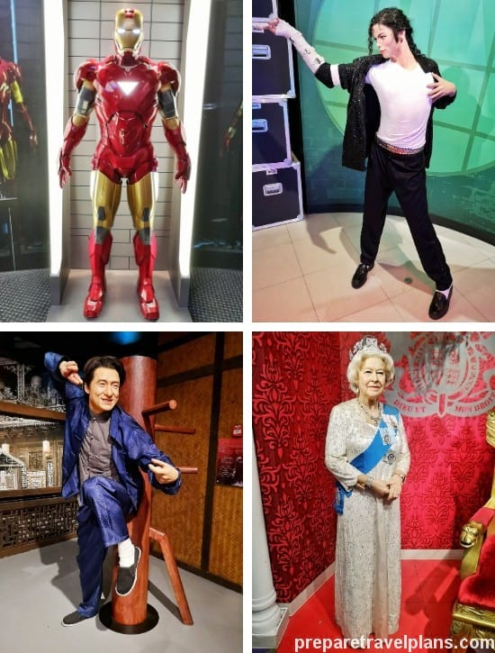 Famous Stars Wax Figures at Madame Tussauds Singapore
