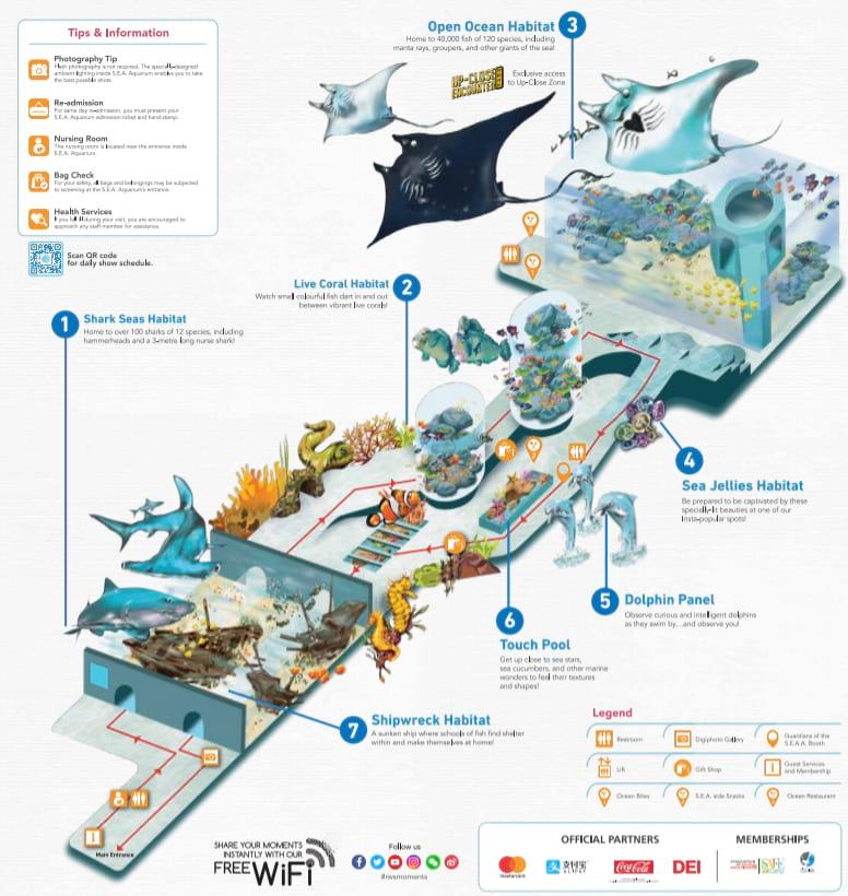 SEA Aquarium Singapore Map