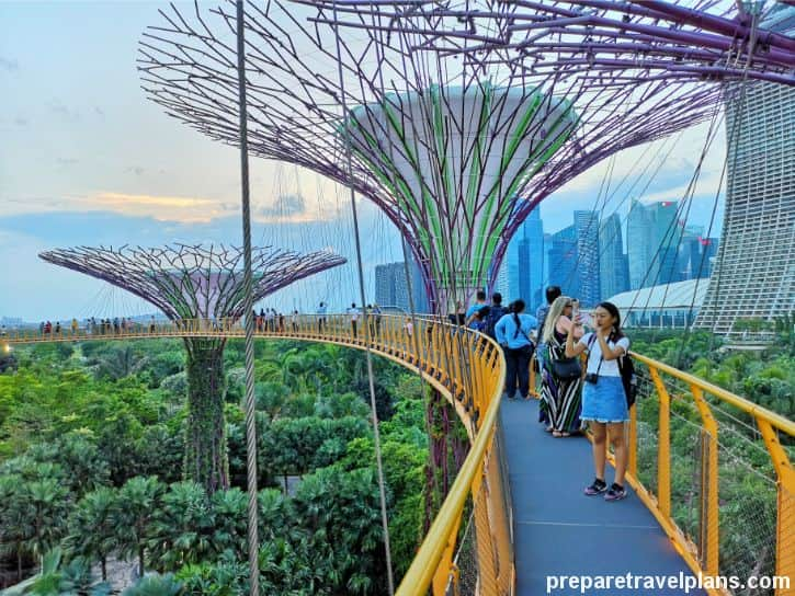 OCBC Skyway Walking Trail Gardens by the Bay