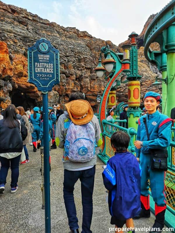 FastPass Lane Attractions at Tokyo DisneySea