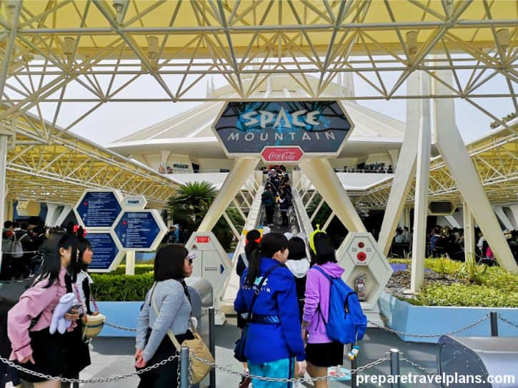 Space Mountain Ride at Tokyo Disneyland