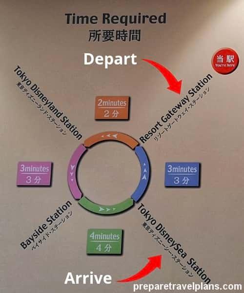 Tokyo Disney Resort Monorail Map