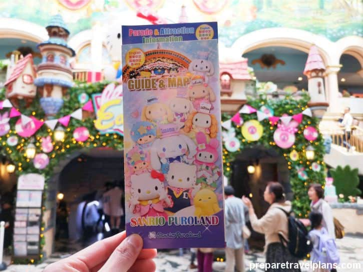Sanrio Puroland Guide Map