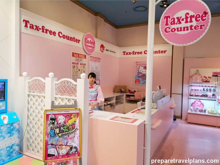 Tax Free Counter at Sanrio Puroland