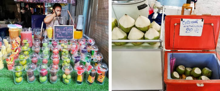 Fruit Juice and Coconut Drinks