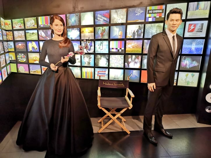 Ann Thongprasom and Ken Theeradeth Wonpuapan Wax Figure