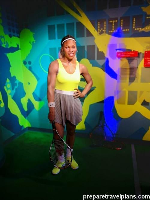Serena Williams Wax Figure