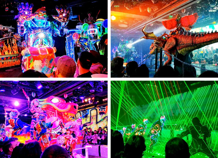 Dragon and Giant Snake Shows at Robot Restaurant