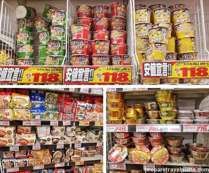 Japanese Instant Noodles at Mega Don Quijote Shibuya