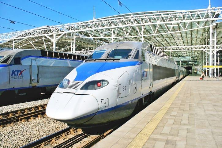 Seoul to Busan KTX Train