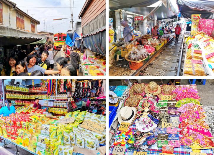 Maeklong Railway Market, a unique market to visit in Bangkok